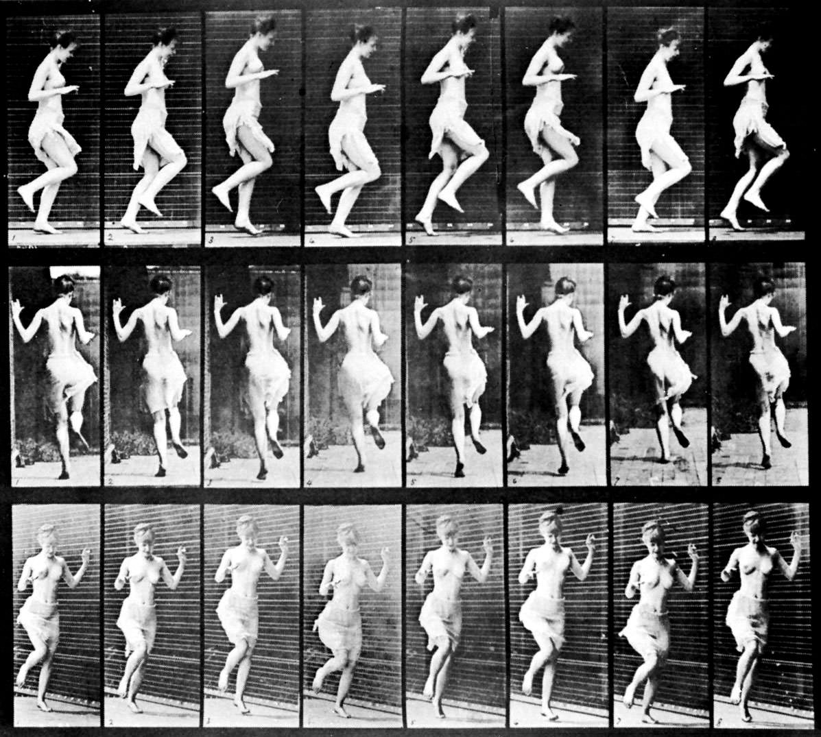 Muybridge, Eadward: Figures Hopping(1887)