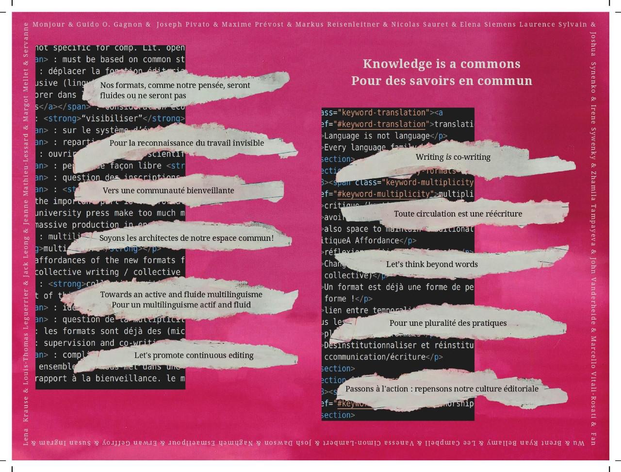 Knowledge is a commons - Pour des savoirs en commun - Sens public